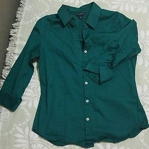 Forest Green Button Down Top